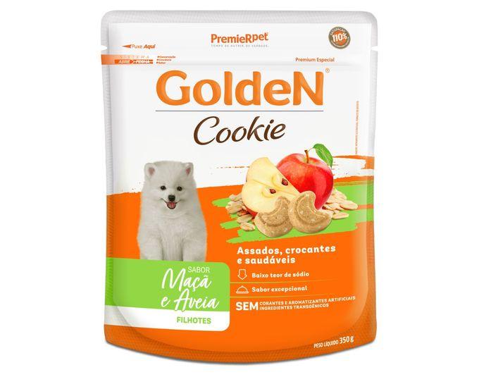 Golden Cookie Cães Filhotes Sabor Maçã e Aveia - 350G